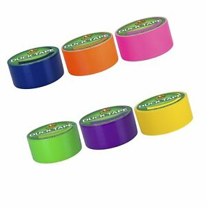 Duck Brand Duct Tape Multi color 6 Pack Bright Colors pink Yellow Orange