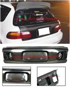 Oe Factory Package Carbon Fiber Rear Trunk Cover For 92 95 Honda Civic Eg6 3dr