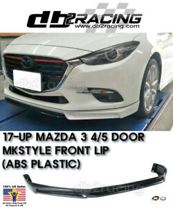 Mk Style Front Bumper Lip Abs Fits 17 18 Mazda 3