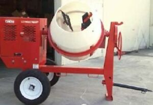 Multiquip Whiteman Mc94pe Poly Drum Concrete Mixer Electric 1 5hp 115 230v 1