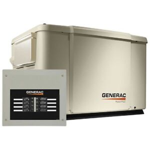 New Generac 6 7 5kw 120 240 1 phase air Cooled Powerpact Generator ng lp