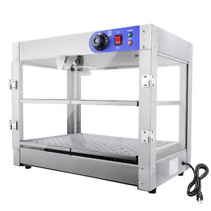 Commercial 24x15x20 Inch Pastry Food Pizza Warmer Countertop Display Case