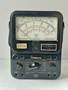 Vintage Simpson 260 Series 3 Milliamp Volt Ohm Meter Electrical Tester