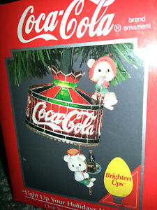 COCA COLA Enesco 1993 LIGHT UP YOUR HOLIDAYS WITH COKE Christmas Ornament NEW