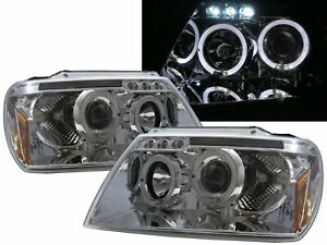 Grand Cherokee Wj Mk2 99 04 5d Angel Eye Projector Headlight Chrome For Jeep Lhd
