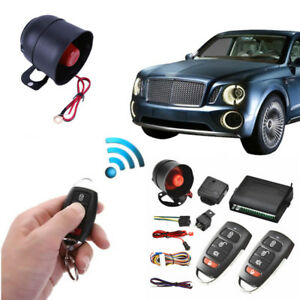 Universal 1 Way Car Suv Burglar Alarm Siren System Protection Kit Remote Control