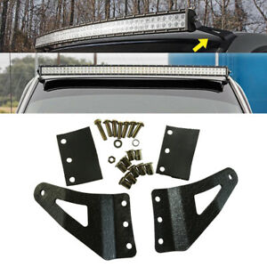 54inch Curved Led Light Bar Mounting Brackets Fit For Gmc Chevy Silverado 07 13