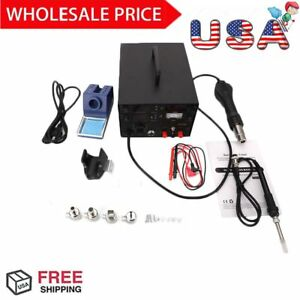 3 In 1 853d Smd Dc Power Supply Hot Air Iron Gun Rework Soldering Station Best
