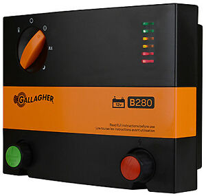 Battery Electric Fence Charger B280 2 8 Joules Gallagher G366504