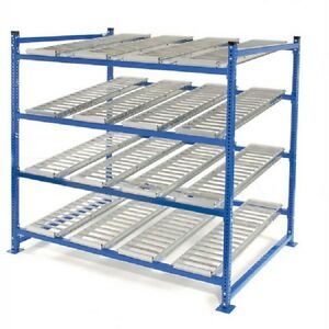 New Unex Flow Cell Heavy Duty Gravity Rack 72 w X 48 d X 72 h With 4 Levels