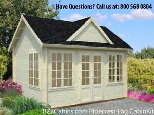 13 x9 10 Log Cabin Kit Pool Or Garden House Our Best Selling Model On Sale