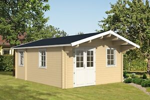 14ft X 19ft 266sq Ft Log Garden Pool Guest House Vacation Cabin Building Kit