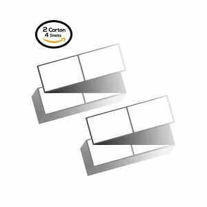 8000 Labels Fanfold 4 x6 Direct Thermal Shipping Barcode Blank Labels Zebra Ups