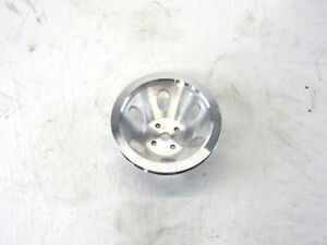 Aluminum Bbc Chevy 396 454 Short Water Pump Pulley 1 Groove Satin Bpe 5001