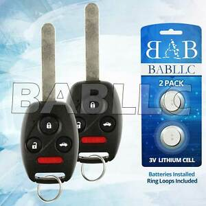 2 Replacement For 2008 2009 2010 2011 2012 Honda Accord Ex Lx Key Fob Remote