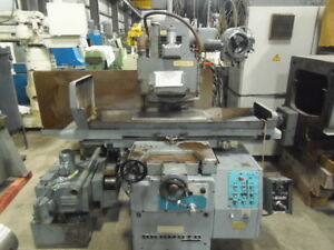 12 X 24 Okamoto Surface Grinder Model 124 Incremental Down Magnet With Demag