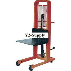 New Hydraulic Stacker Lift Truck M166 1000 Lb With Platform