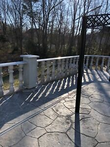Natural Stone Granite Banister Baluster Sesame White 33 x5 5