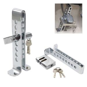 Brake Pedal Lock Security Car Stainless Steel Clutch Lock Anti Theft Universal