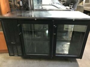 Perlick 60 Pass Thru Glass Doors Refrigerated Back Bar Cooler Ps60