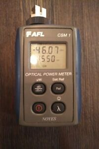 Afl Csm 1 Noyes Sm Mm Fiber Optic Power Meter Csm1 3 Used