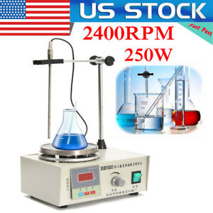 Laboratory Lab Magnetic Stirrer With Heating Plate 85 2 Hotplate Mixer 110v