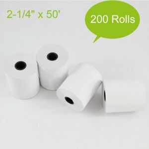 200 Rolls 2 1 4 X 50 Pos Thermal Receipt Paper Cash Register Credit Card