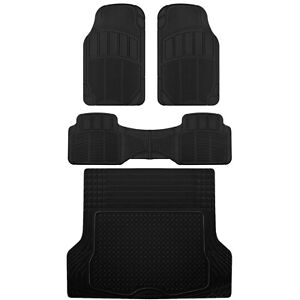 Acdelco Car Floor Mats Deep Dish Rubber Thick Odorless All Weather For Auto