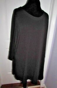 Avenue Black Long Sleeve Tunic Top Size 22 24