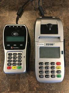 First Data Fd100 Ti Fd 35 Pin Pad Credit Card Processing Emv Chip Cards