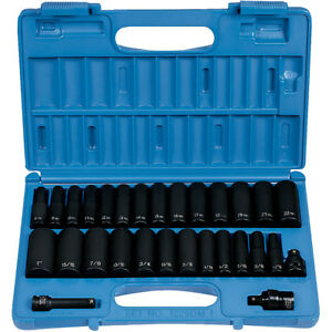 Grey Pneumatic 1229dm 3 8 Drive 29 Piece 6 Point Metric And Sae