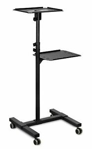 Mount it Mobile Projector And Laptop Stand Height Adjustable Presentation Cart