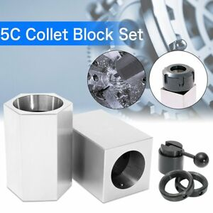 Accusizetools Collet Block Chucks For 5c Round Hex Or Square Collets New Bp