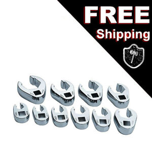New Craftsman 3 8 Drive Metric Mm Flare Nut Crowfoot Wrench Set 10 Pcs