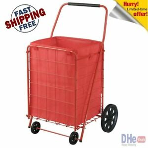 Extra Large Heavy Duty Shopping Cart Grocery Laundry Folding Cart Wheels Market