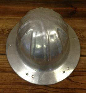 Vtg Us Government Aluminum Hard Hat Helmet Mcdonald T Mine Safety Appliances