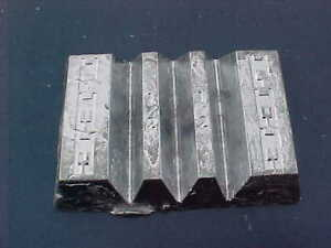 4 LB LEAD INGOT GOOD CLEAN ROOFERS GRADE POURED INTO LEE MOLD RELOADING + MORE!