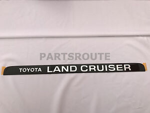 Toyota Land Cruiser Oem Genuine Tailgate Hatch Door Emblem Fj80 Fzj80 1991 1997