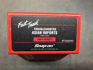 Snap On 2001 Asian Troubleshooter Cartridge Mt2500 Scanner Nice