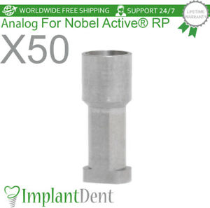 50 Implant Analog For Nobel Biocare Active Hex Rp Dental Abutment