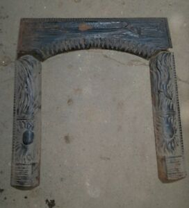 Reclaimed Vtg Antique Art Nouveau Ornate Fireplace Surround Murdock Grate Co