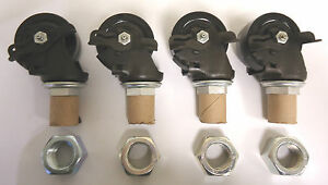 4 Colson 3 Phenolic Casters With Swivel And Brakes