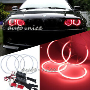 4 Pieces 131mm Red Ccfl Led Angel Eyes Halo Rings For Bmw E36 E38 E39 E46 Drl