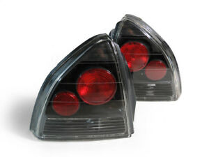 jdm Black Cf Carbon Fiber Style Clear Altezza Tail Lamp For 92 96 Honda Prelude