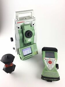 Leica Ts12 P 5 R400 demo Model Cs15 W Smartworx Robotic Total Station Kit