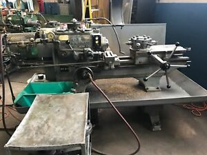 Warner Swasey No 2 Turret Lathe With Bar Feeder Excellent Shape Mill Engine