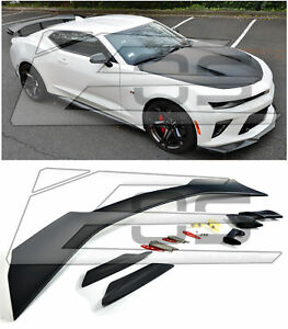 Eos Body Kit For 16 Up Camaro Zl1 1le Style Abs Plastic Rear Trunk Lid Spoiler