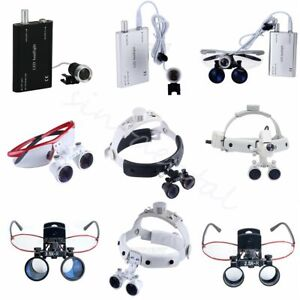 Dental Loupes Surgical Binocular Glass Medical Magnifier Led Head Light Sino