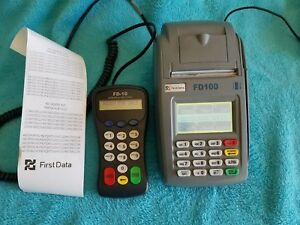 Fd100 Credit Card Machine And First Data Fd 10c Pin Pad