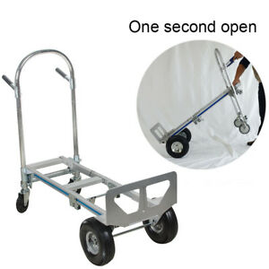 sale hand Truck Aluminum Hand Truck 770lbs Convertible From 2 To 4 Wheels Usa